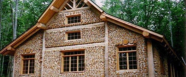 Cordwood house construction